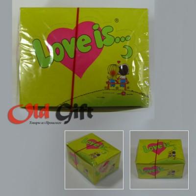 Блок жевательной резинки Love is...