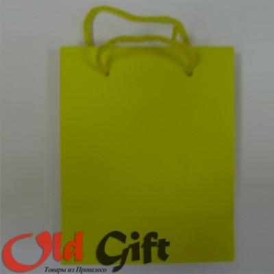 Подарочный пакет - желтый матовый