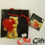 Подарочный пакет - медведь