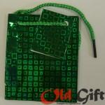 Голографический пакет - зеленый